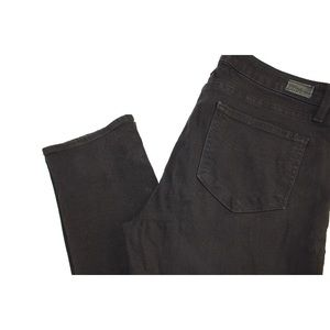 PAIGE Jeans - PAIGE Skyline Skinny Jeans in Black Shadow